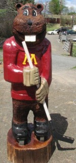 4' Goldy Mascot Carving - Product Image