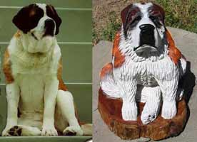 Carving of your Dog from a Picture
