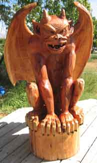 Gargoyle Chainsaw Carving