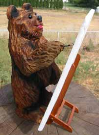 Hide N Seek Chainsaw Carving Bear