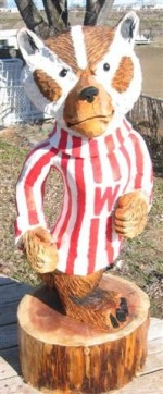 Custom 3' Bucky Badger Carving - Product Image