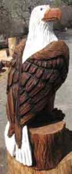 Custom 4' Eagle Carving - Product Image