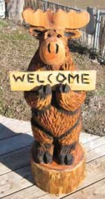 3ft Sign Moose *Local Pickup for Christmas - Product Image