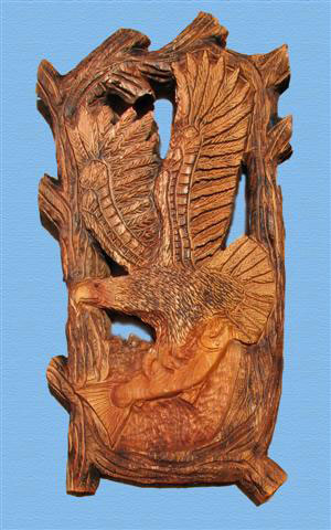 Pierced Relief Eagle - Product Image