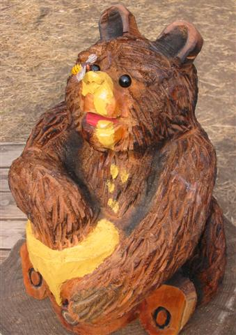 Bear w/ Honey & Bee - Product Image