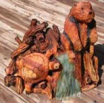 Beaver Turtle Dam Carving - Product Image