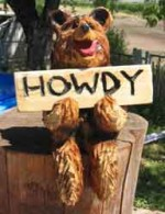 Sitting Bear with Sign - Product Image