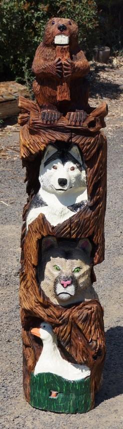 5' Mascot Totem Pole - Product Image