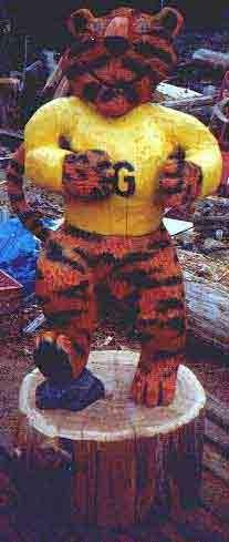 5' Tiger Mascot - Product Image